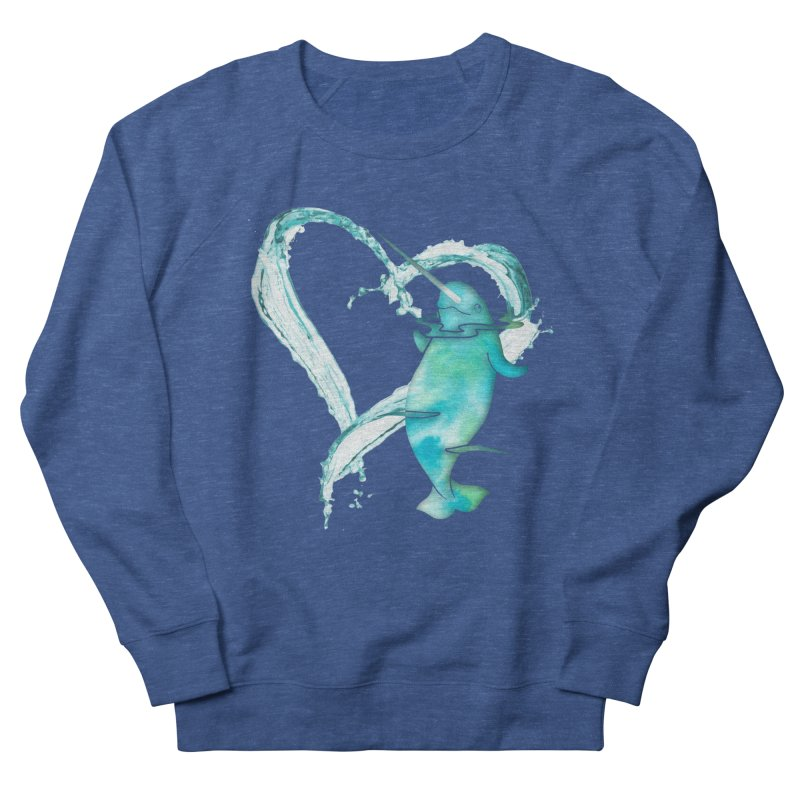I Love Narwhals Women's French Terry Sweatshirt by Ferine Fire