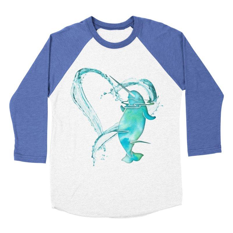 I Love Narwhals Women's Baseball Triblend Longsleeve T-Shirt by Ferine Fire