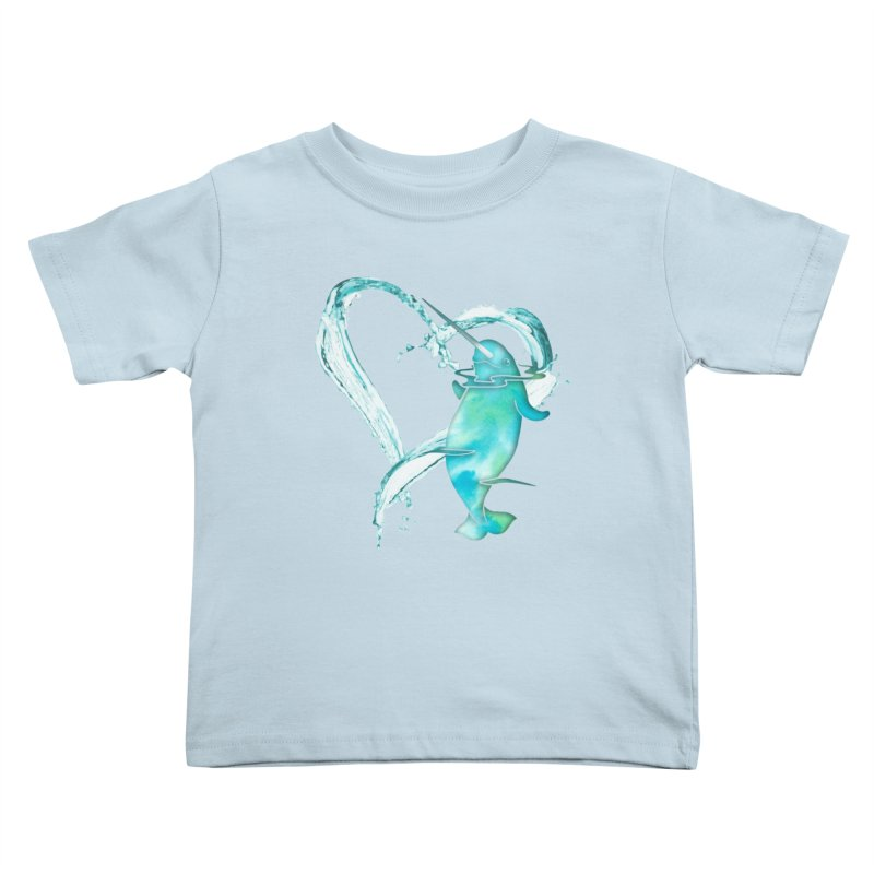 I Love Narwhals Kids Toddler T-Shirt by Ferine Fire