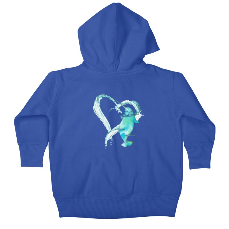 I Love Narwhals Kids Baby Zip-Up Hoody by Ferine Fire