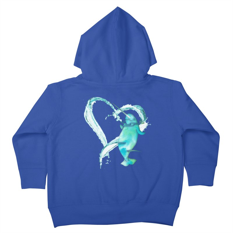 I Love Narwhals Kids Toddler Zip-Up Hoody by Ferine Fire