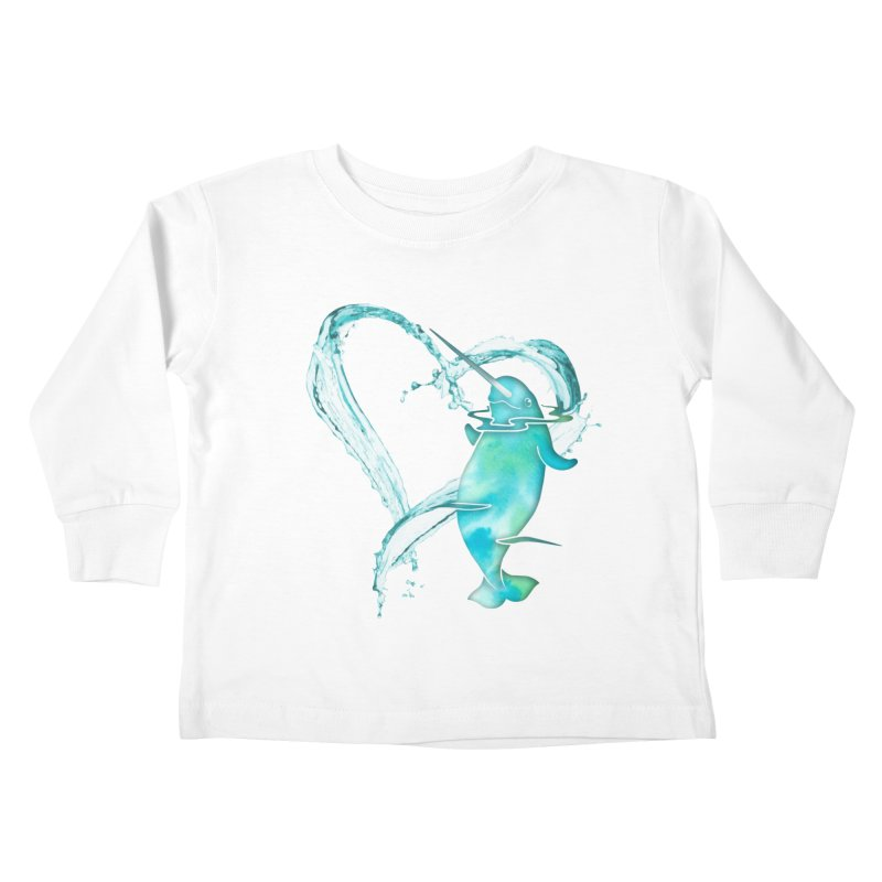 I Love Narwhals Kids Toddler Longsleeve T-Shirt by Ferine Fire