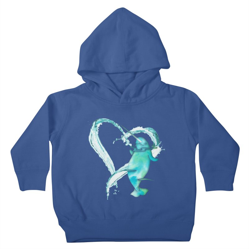 I Love Narwhals Kids Toddler Pullover Hoody by Ferine Fire
