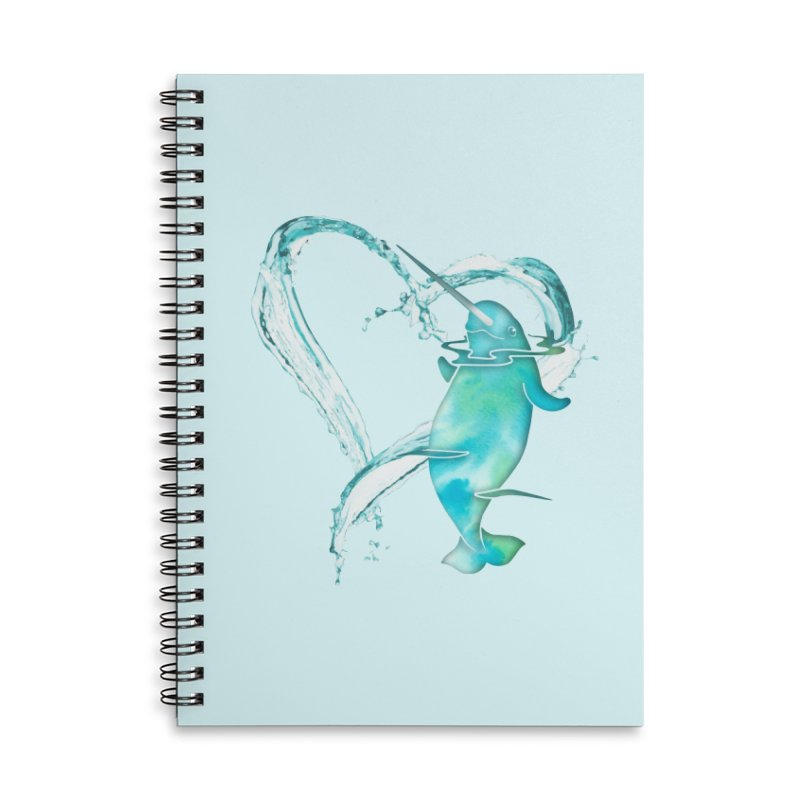 I Love Narwhals Accessories Lined Spiral Notebook by Ferine Fire