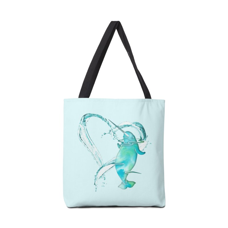 I Love Narwhals Accessories Tote Bag Bag by Ferine Fire
