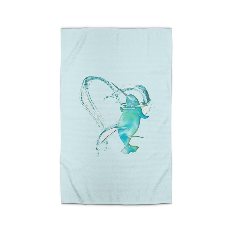 I Love Narwhals Home Rug by Ferine Fire