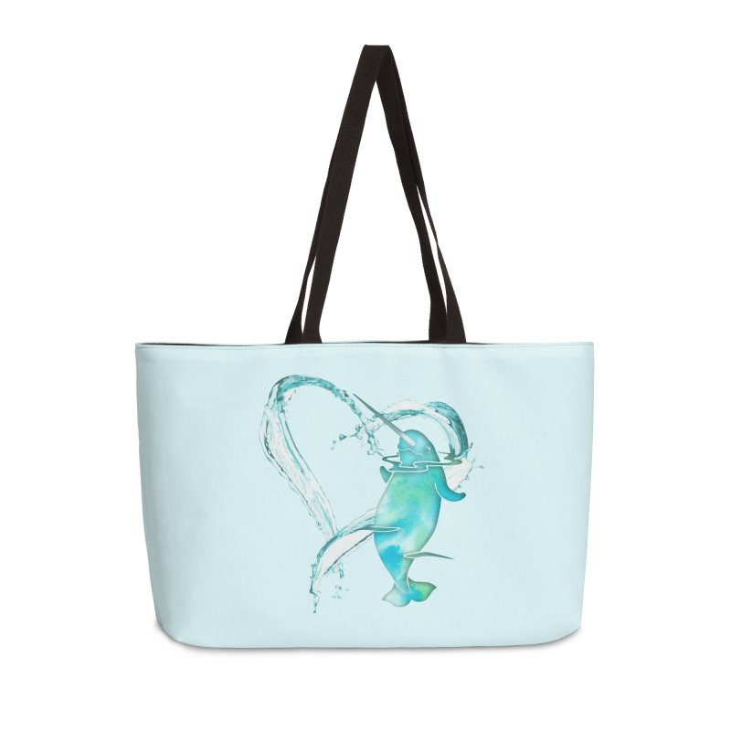 I Love Narwhals Accessories Weekender Bag Bag by Ferine Fire