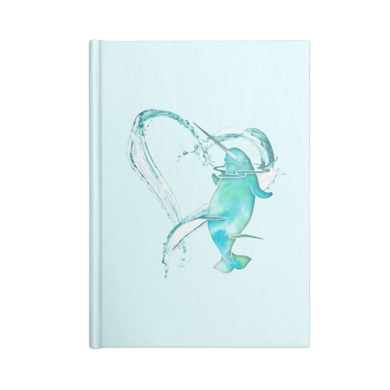 I Love Narwhals Accessories Lined Journal Notebook by Ferine Fire