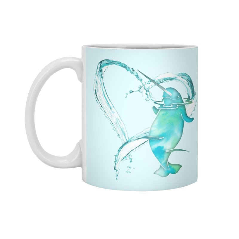 I Love Narwhals Accessories Standard Mug by Ferine Fire