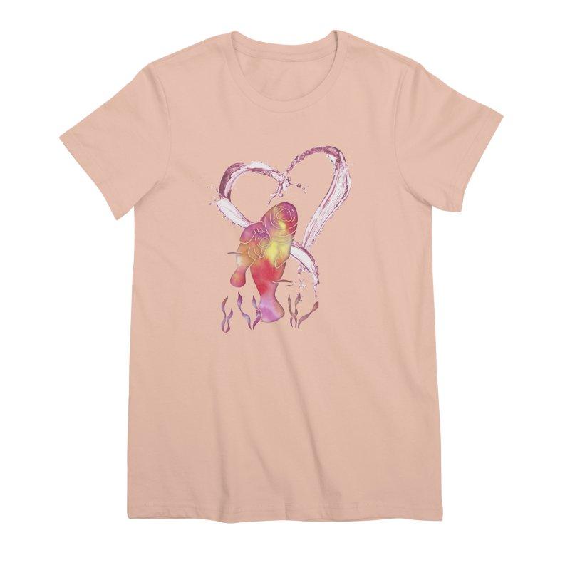 I Love Manatees Women's Premium T-Shirt by Ferine Fire