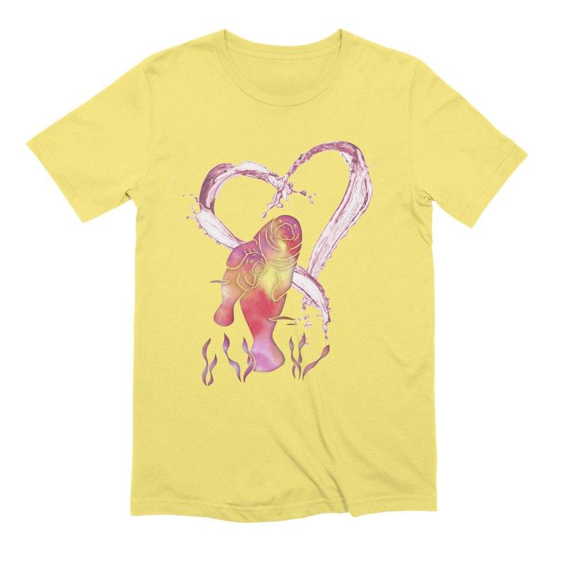 I Love Manatees Men's Extra Soft T-Shirt by Ferine Fire