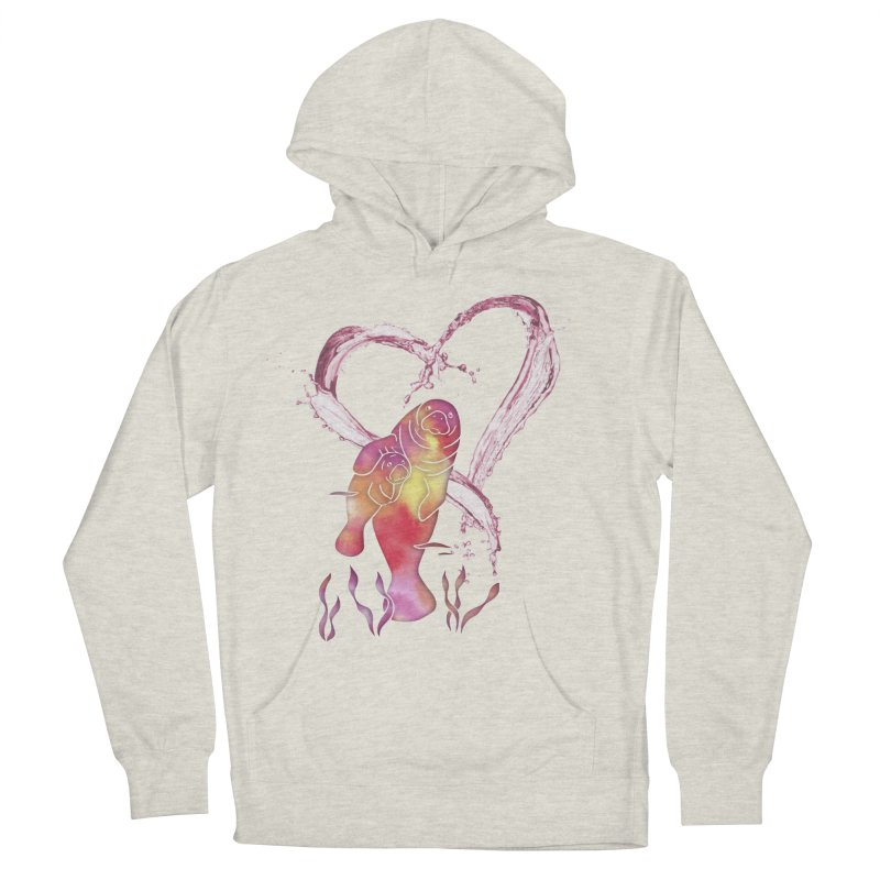 I Love Manatees Men's French Terry Pullover Hoody by Ferine Fire