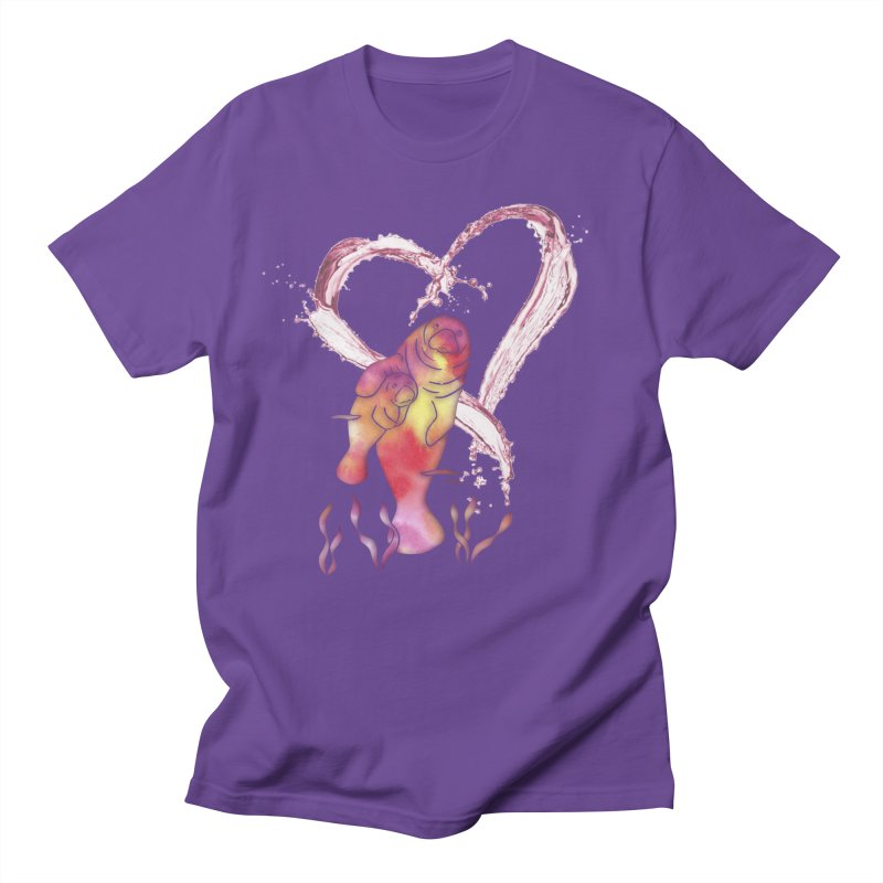 I Love Manatees Men's Regular T-Shirt by Ferine Fire
