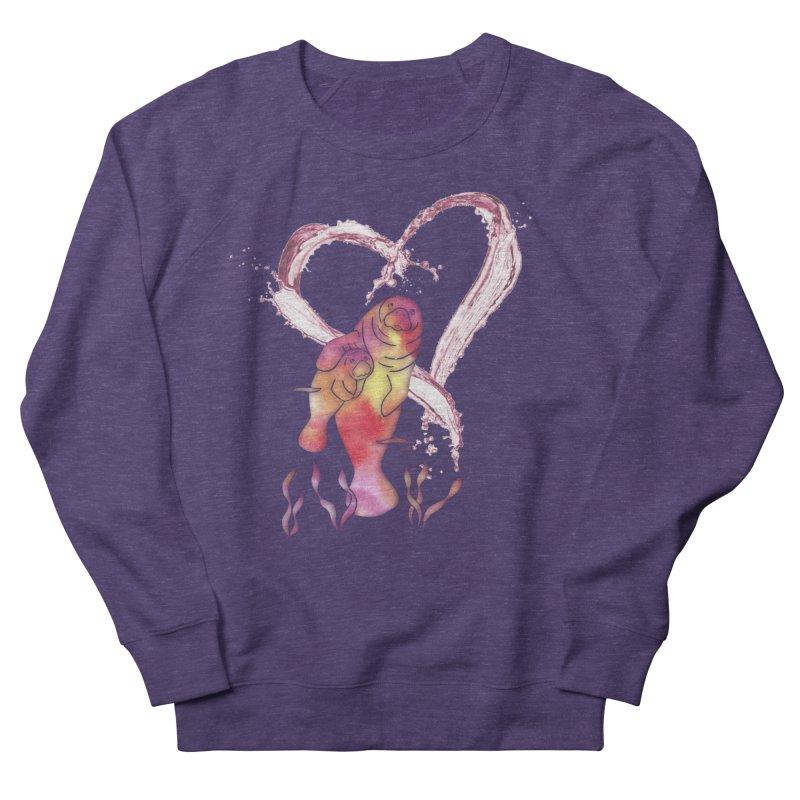 I Love Manatees Women's French Terry Sweatshirt by Ferine Fire