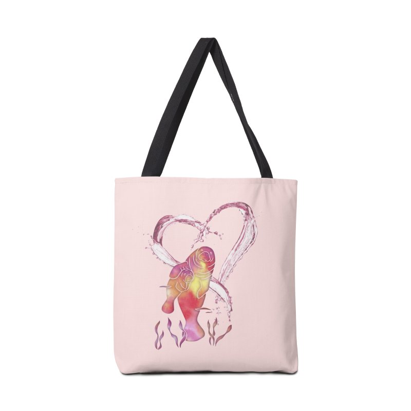 I Love Manatees Accessories Tote Bag Bag by Ferine Fire