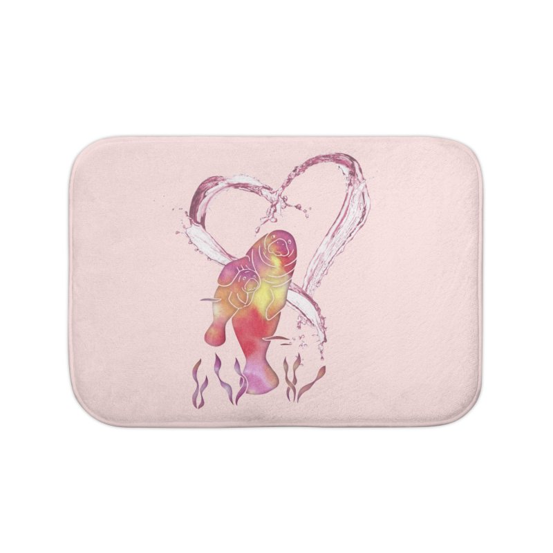 I Love Manatees Home Bath Mat by Ferine Fire