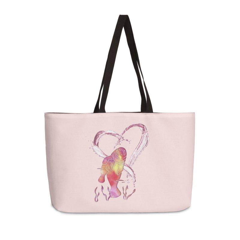 I Love Manatees Accessories Weekender Bag Bag by Ferine Fire