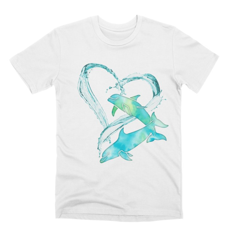 I Love Dolphins Men's Premium T-Shirt by Ferine Fire
