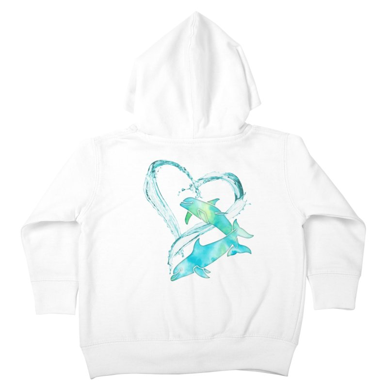 I Love Dolphins Kids Toddler Zip-Up Hoody by Ferine Fire