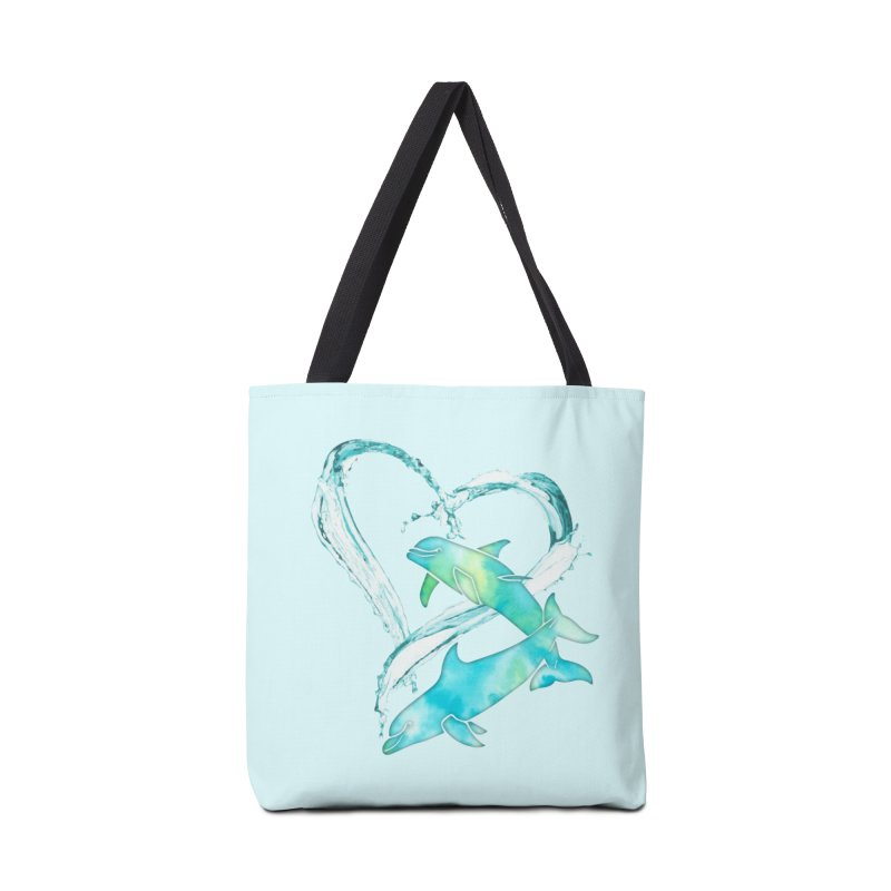 I Love Dolphins Accessories Tote Bag Bag by Ferine Fire