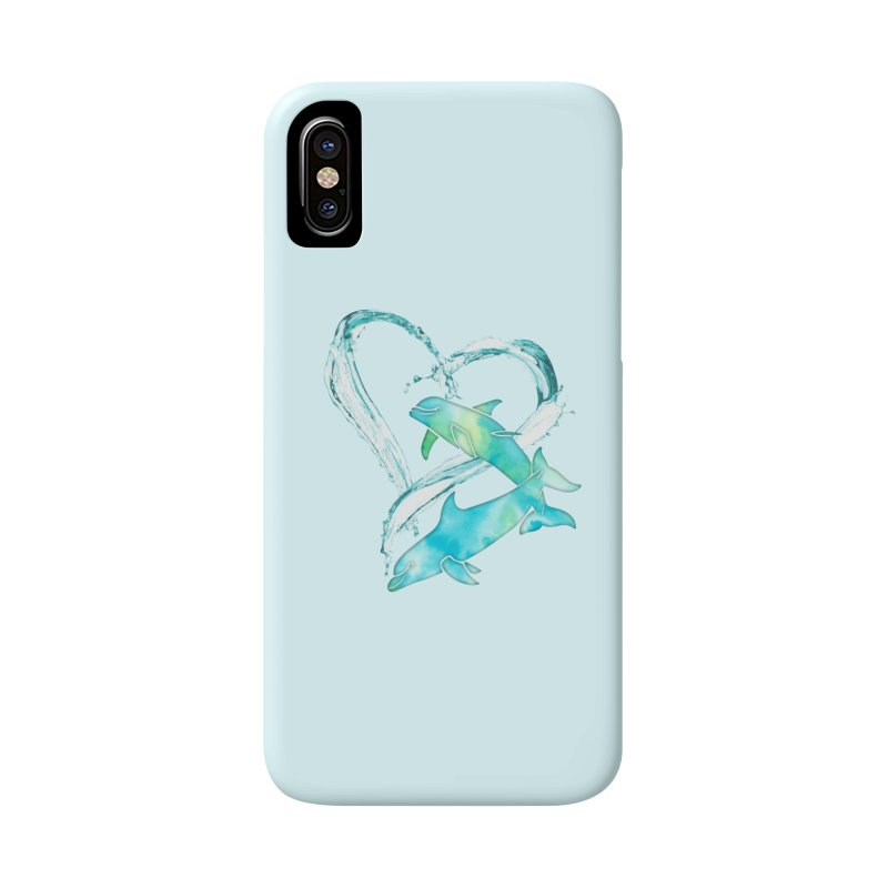 I Love Dolphins Accessories Phone Case by Ferine Fire