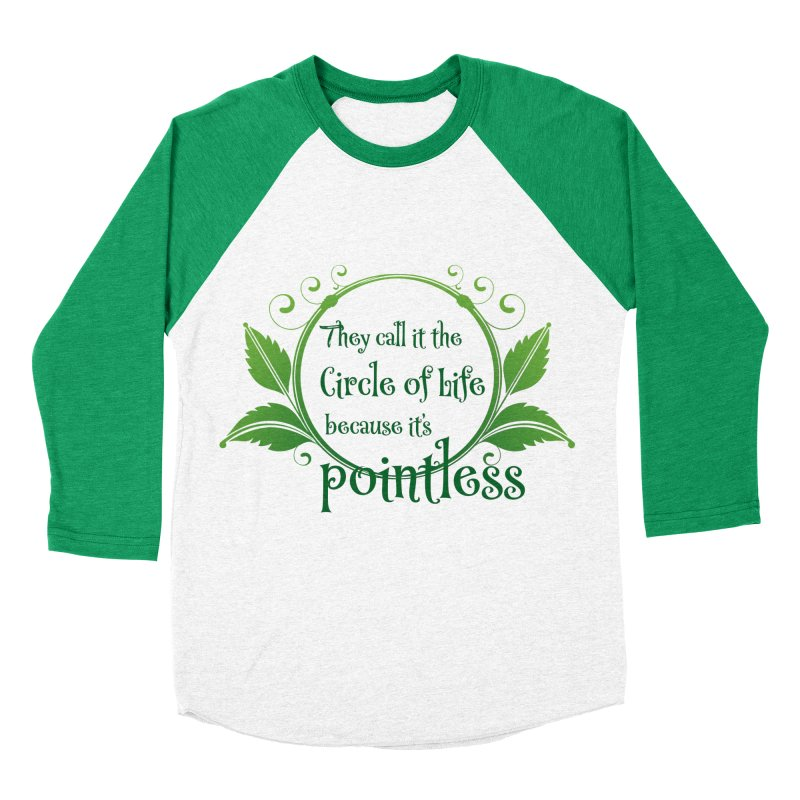 Pointless Women's Baseball Triblend Longsleeve T-Shirt by Ferine Fire
