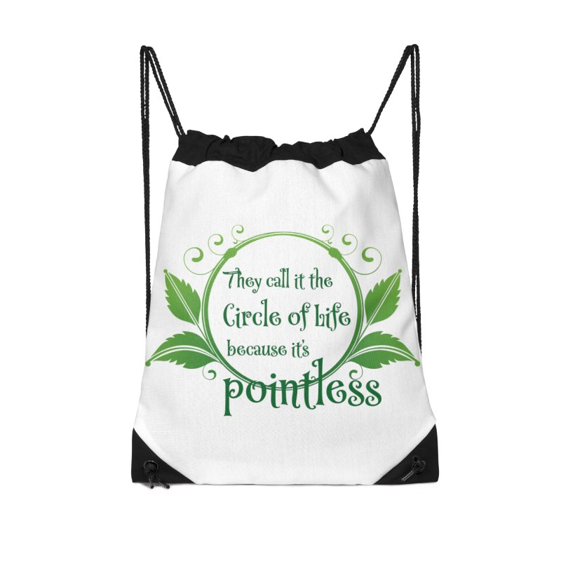 Pointless Accessories Drawstring Bag Bag by Ferine Fire