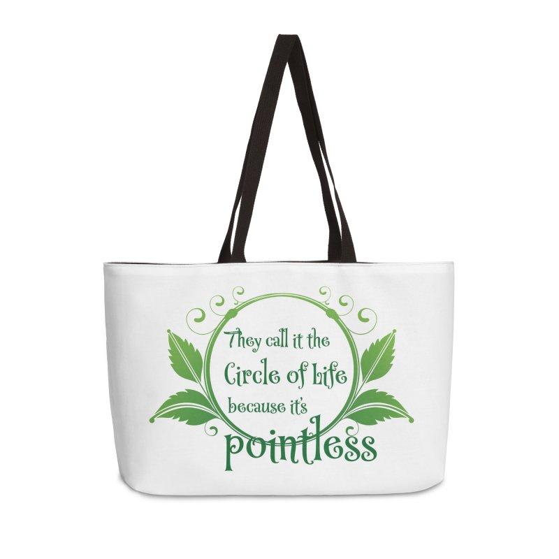Pointless Accessories Weekender Bag Bag by Ferine Fire