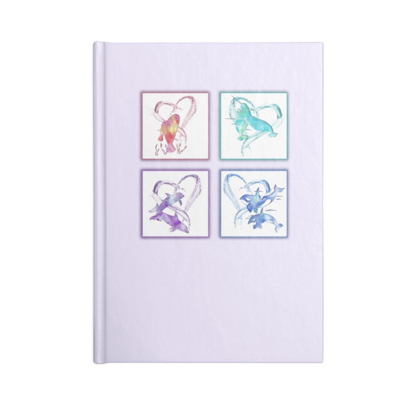 Ocean Love Accessories Lined Journal Notebook by Ferine Fire