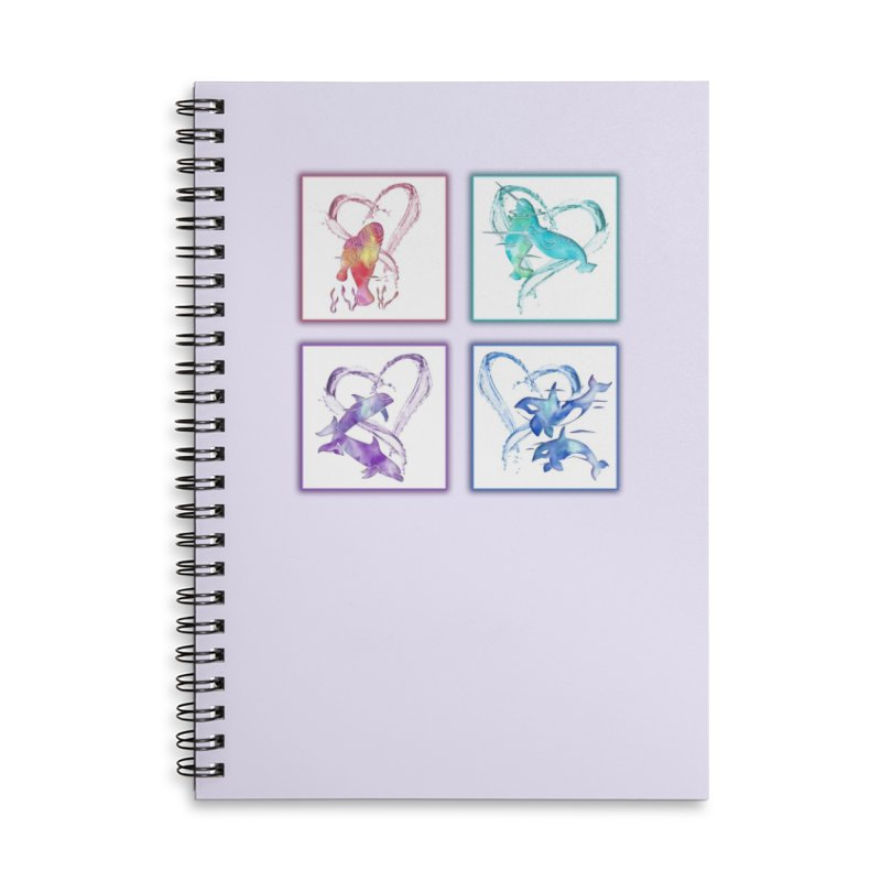 Ocean Love Accessories Lined Spiral Notebook by Ferine Fire