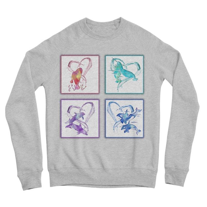 Ocean Love Men's Sponge Fleece Sweatshirt by Ferine Fire