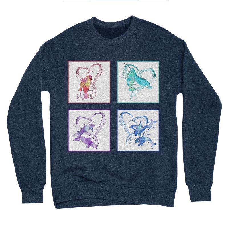 Ocean Love Women's Sponge Fleece Sweatshirt by Ferine Fire