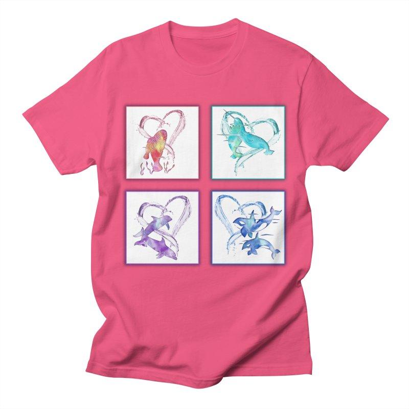 Ocean Love Women's Regular Unisex T-Shirt by Ferine Fire