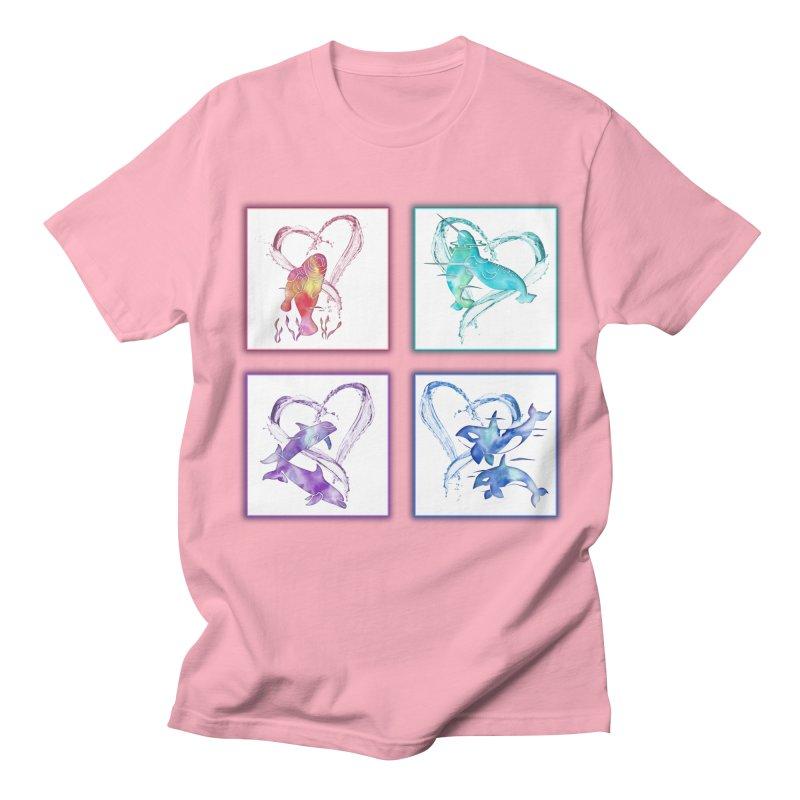 Ocean Love Men's Regular T-Shirt by Ferine Fire