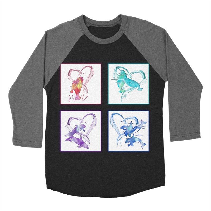 Ocean Love Women's Baseball Triblend Longsleeve T-Shirt by Ferine Fire