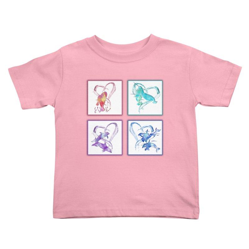 Ocean Love Kids Toddler T-Shirt by Ferine Fire