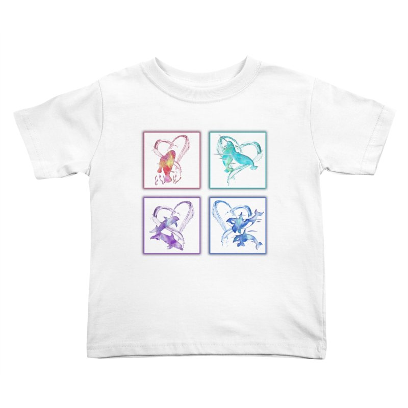 Ocean Love Kids Toddler T-Shirt by Ferine Fire