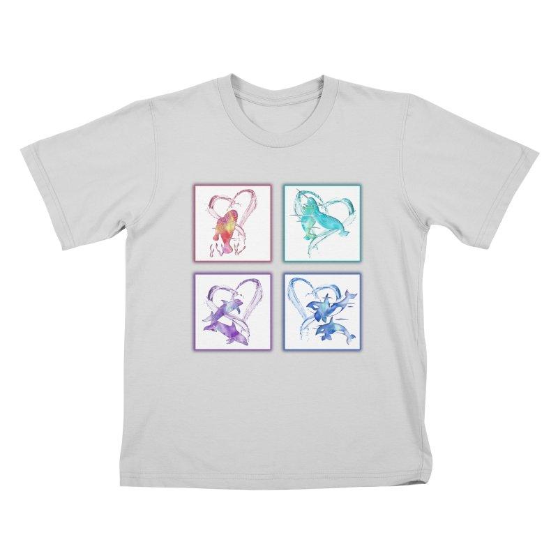 Ocean Love Kids T-Shirt by Ferine Fire