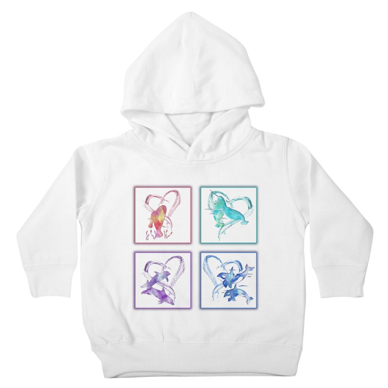 Ocean Love Kids Toddler Pullover Hoody by Ferine Fire