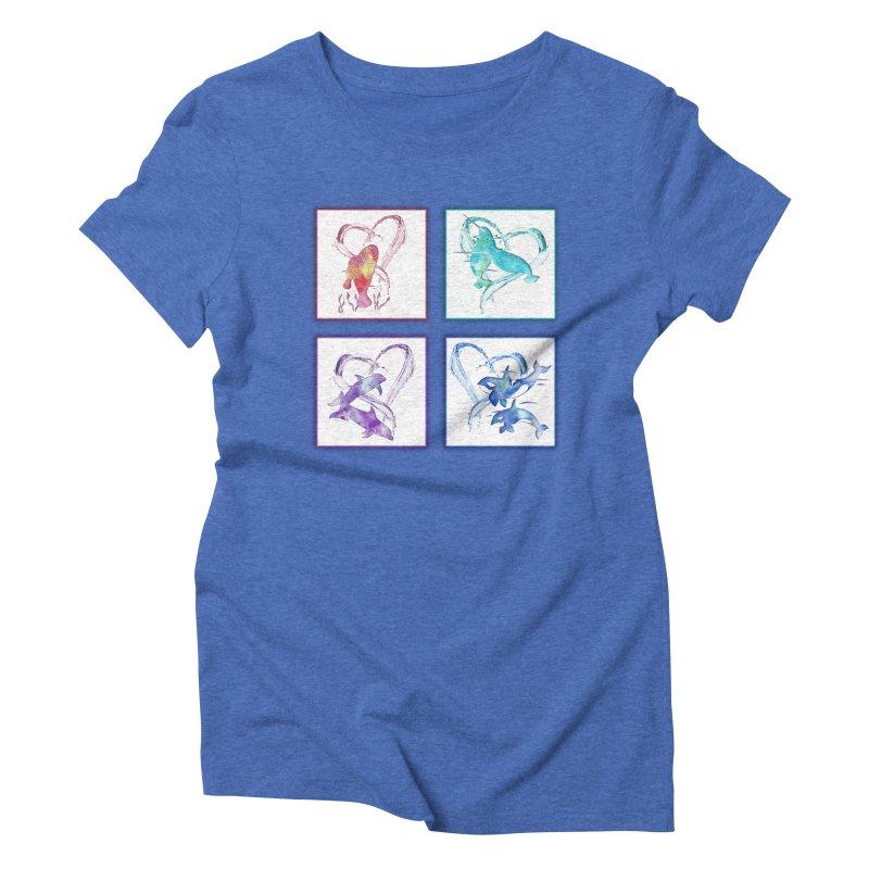 Ocean Love Women's Triblend T-Shirt by Ferine Fire
