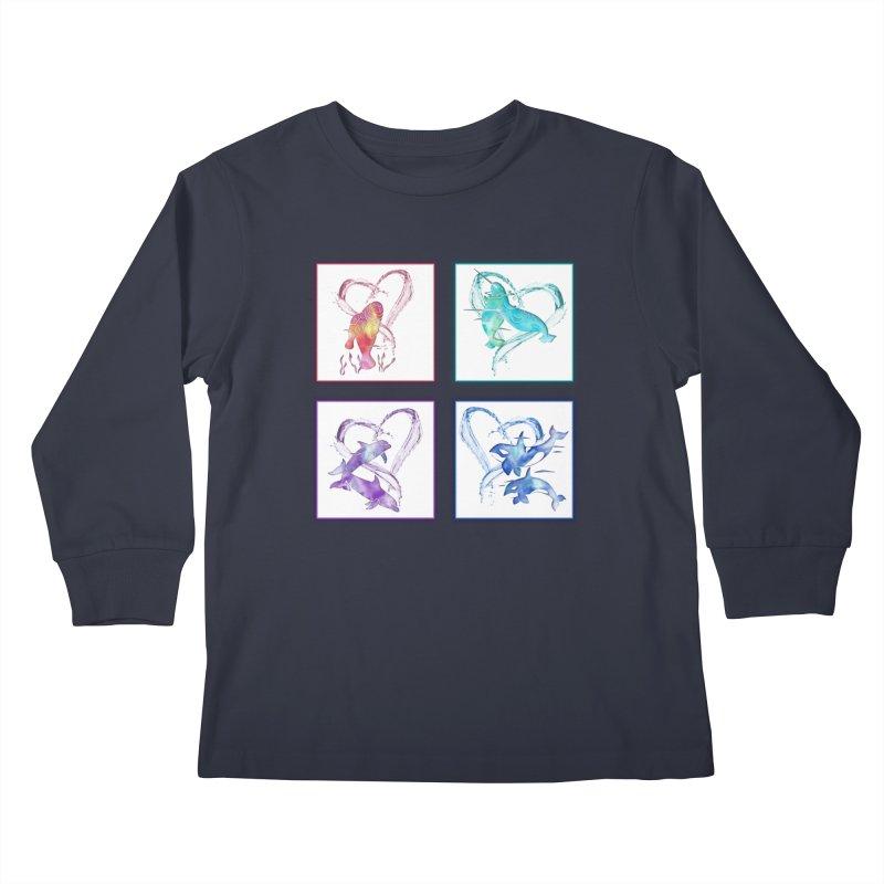 Ocean Love Kids Longsleeve T-Shirt by Ferine Fire