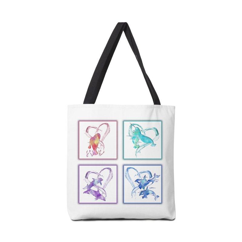 Ocean Love Accessories Tote Bag Bag by Ferine Fire