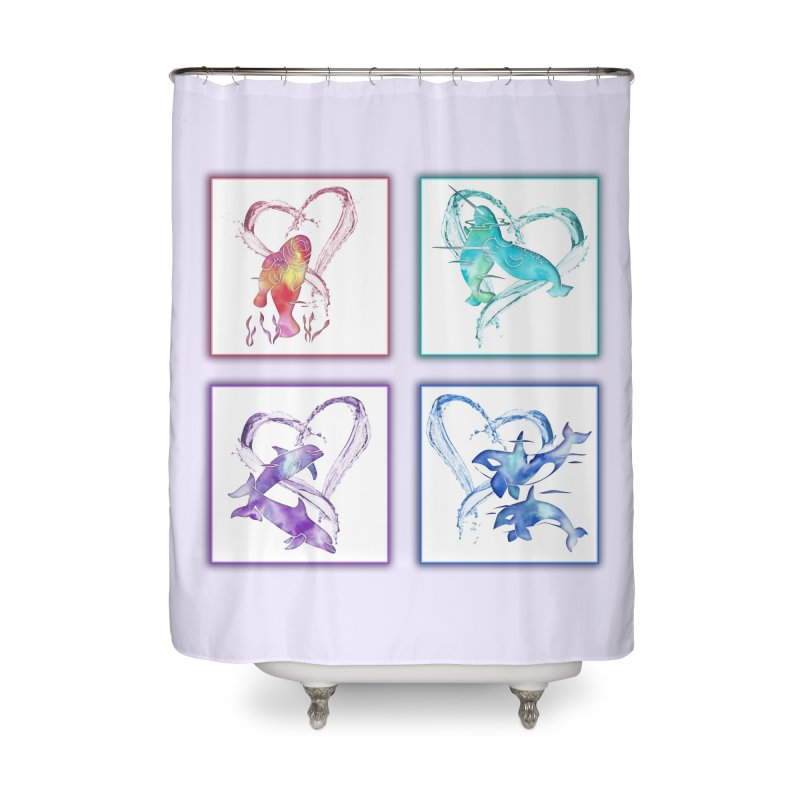 Ocean Love Home Shower Curtain by Ferine Fire
