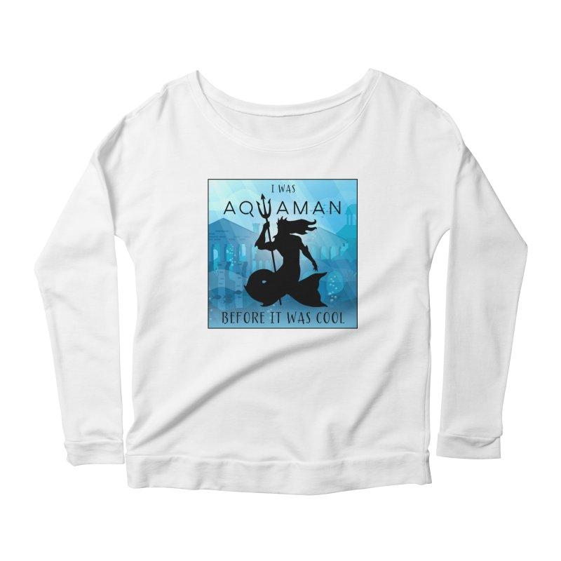 Triton's Lament Women's Scoop Neck Longsleeve T-Shirt by Ferine Fire