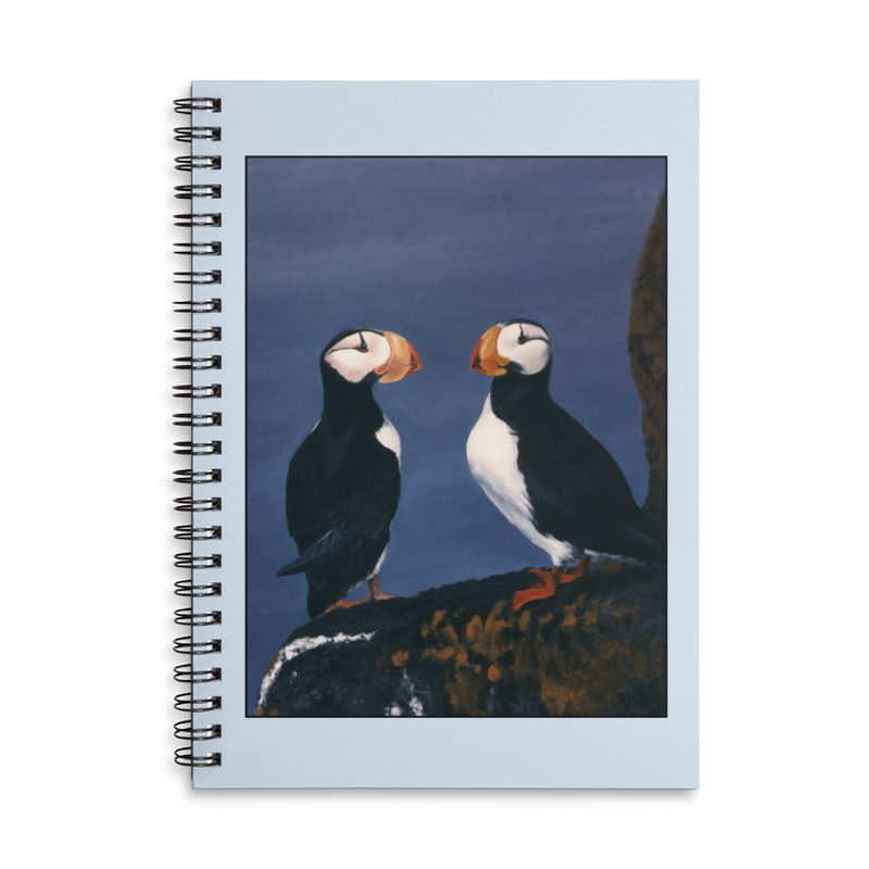 Two's Company Accessories Lined Spiral Notebook by Ferine Fire