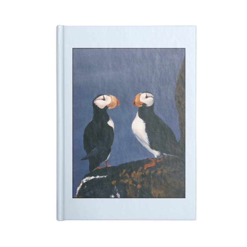Two's Company Accessories Lined Journal Notebook by Ferine Fire