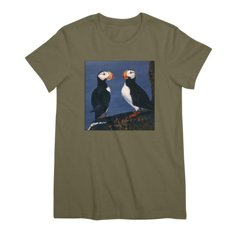 Two's Company Women's Premium T-Shirt by Ferine Fire