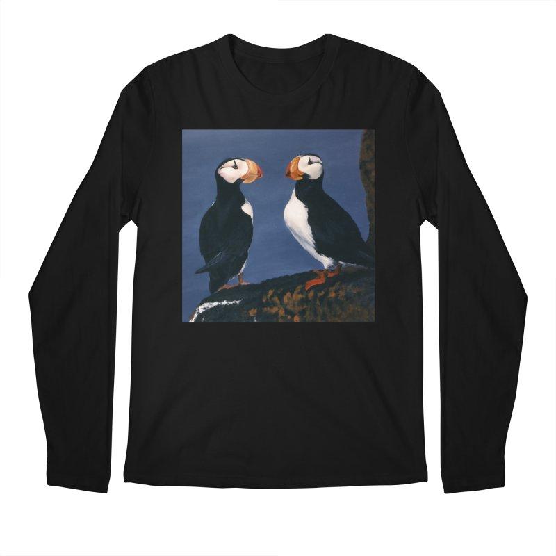 Two's Company Men's Regular Longsleeve T-Shirt by Ferine Fire