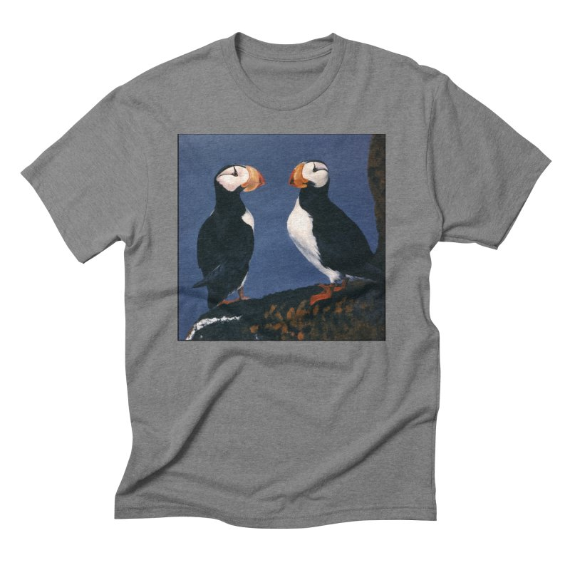 Two's Company Men's Triblend T-Shirt by Ferine Fire