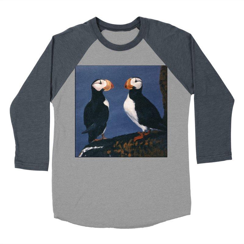 Two's Company Women's Baseball Triblend Longsleeve T-Shirt by Ferine Fire